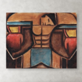 boxing wall art