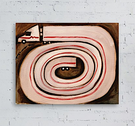 Tommervik Semi Snake Painting  - Semi Truck Art Print For Sale