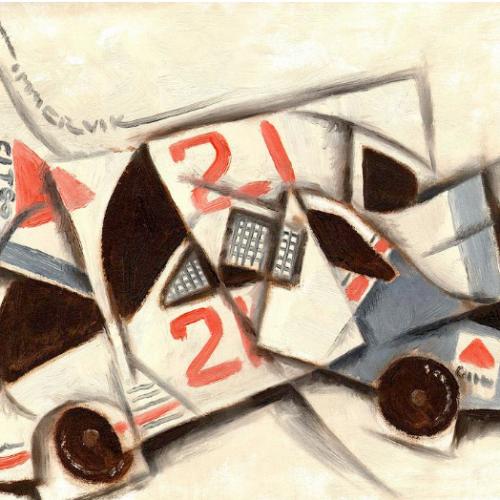 auto racing wall art
