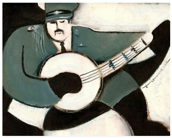 Military banjo Painting