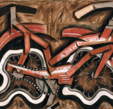 bicycle wall art