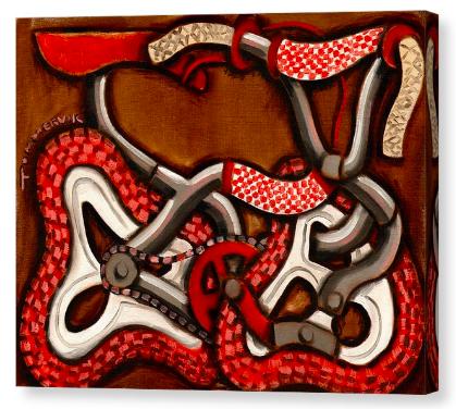 Old School Bmx Bike Painting