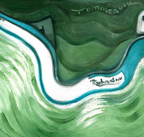 ski boat art