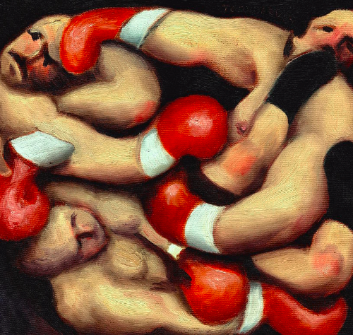 boxing paintings