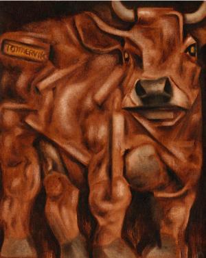 bull wall art