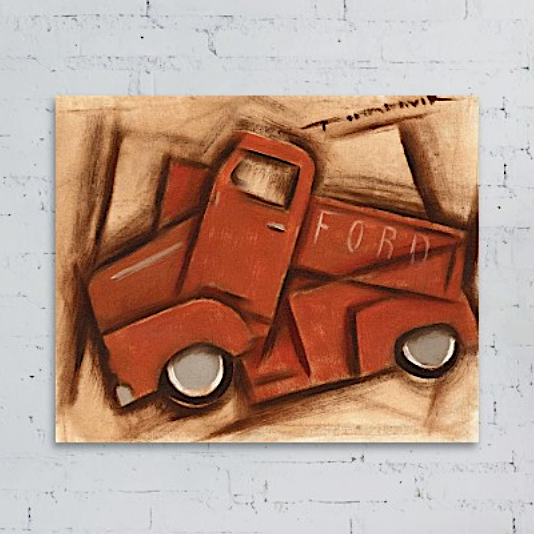 Tommervik Old Cubism Classic Truck Painting - Art Print For Sale