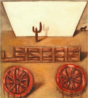 covered wagon wall art