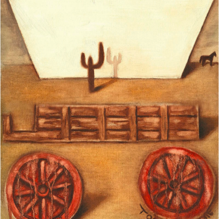 covered wagon wall art