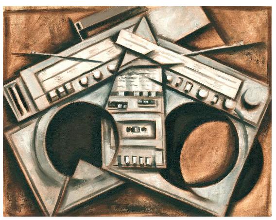 Tommervik Broken Beats Vintage Stereo Painting