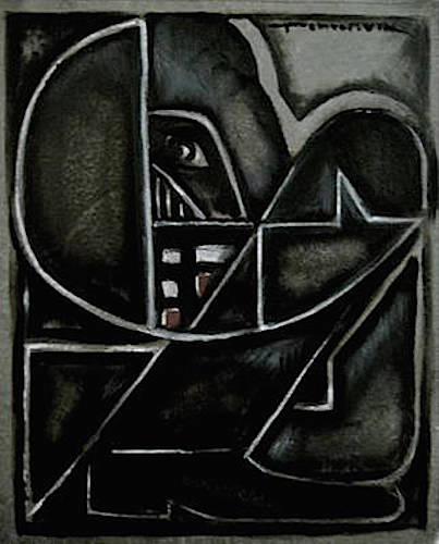 CUBISM DARTH VADER PAINTING