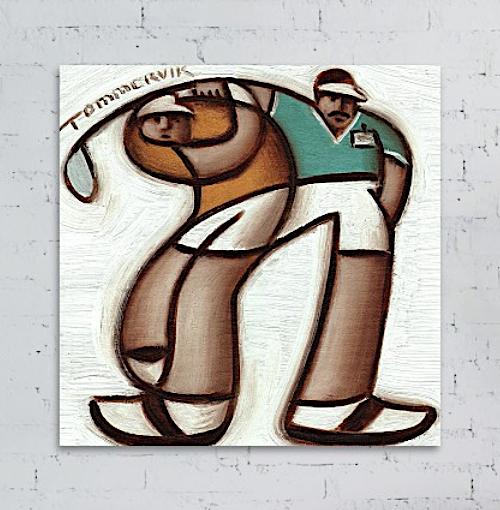golfing art for sale