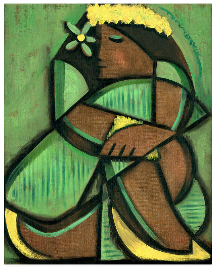 Tommervik Original Hawaiian Artwork – Hawaii Cubism – Cubist Hula Girl Painting