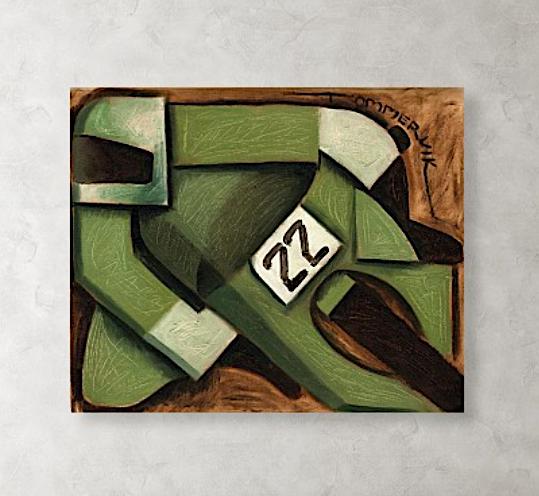 Tommervik Geometric Motorcycle Racing Painting - Art Print For Sale