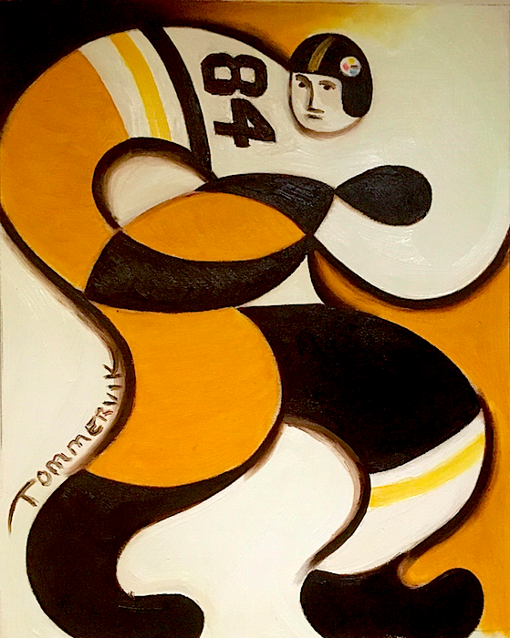 Abstract Pittsburgh Steelers Football Player Painting