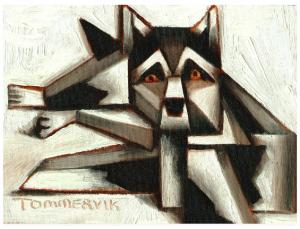 siberian husky painting