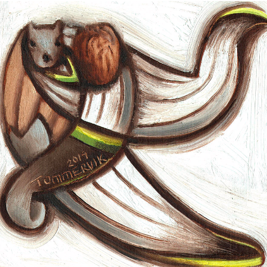 Tommervik Squirrel Baseball Player Painting