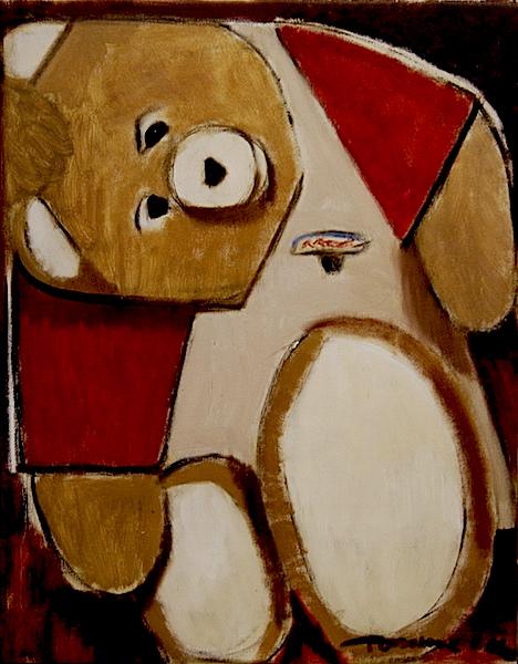 Tommervik Pop Culture Cubism - Cubist Teddy Ruxpin Painting