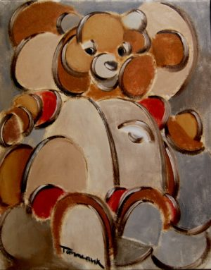 teddy ruxpin painting