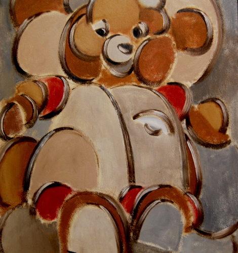 teddy ruxpin painting