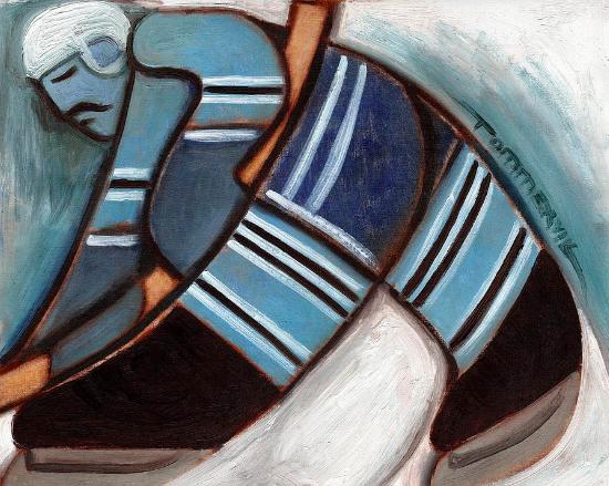 Toronto Hockey Player Painting