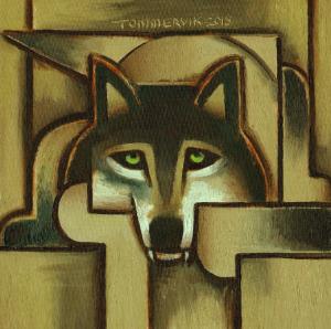 wolf paintings