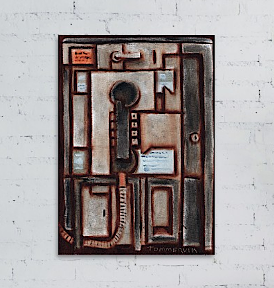 Tommervik Flat Payphone Painting - Art Print For Sale