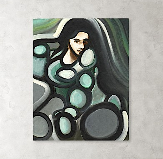 Tommervik Abstract Circular Woman Original Oil Painting
