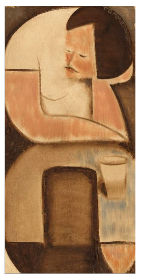 Tommervik Abstract Man Coffee Table Original Painting