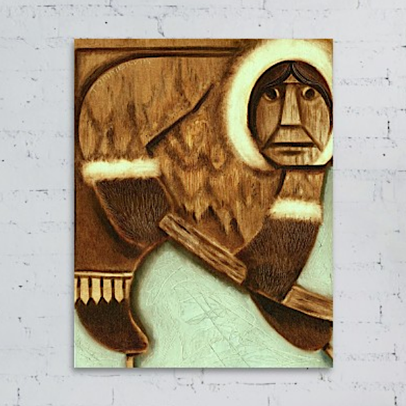 Tommervik Eskimo Ice Hockey Player Painting Art Print For Sale