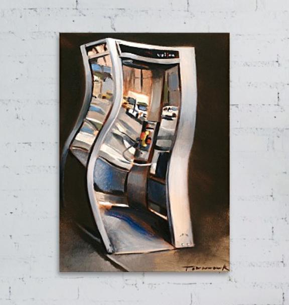 Tommervik Surreal Phone Painting 72nd Street Urban Art Payphone Wall Art Print
