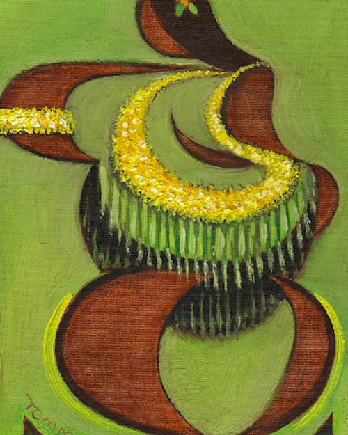 Abstract Hula Dancer Painting