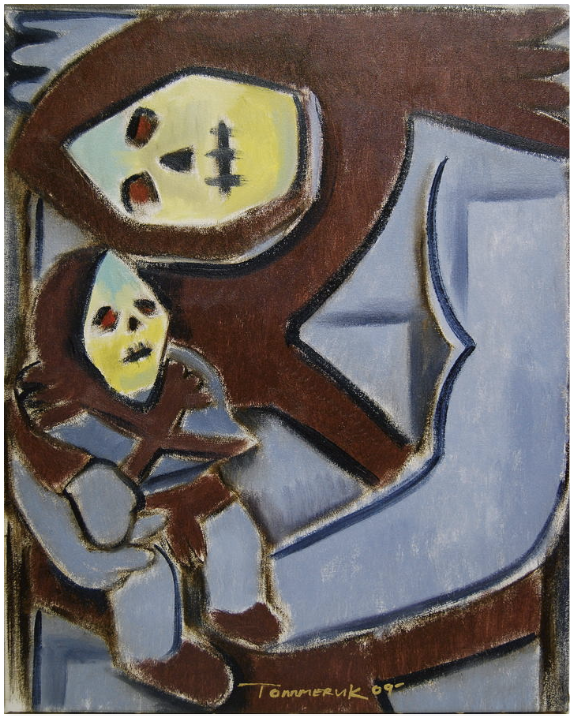BABY SKELETOR PAINTING