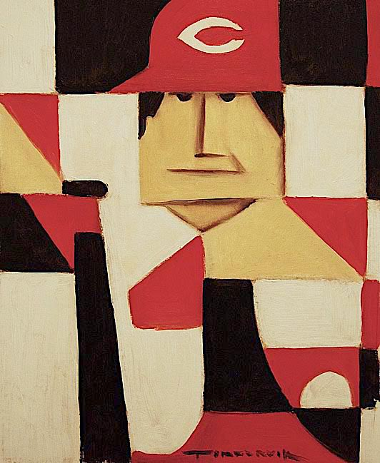 ABSTRACT PETE ROSE PAINTING