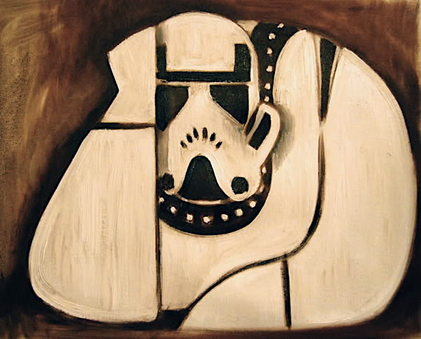 ART DECO STORMTROOPER PAINTING