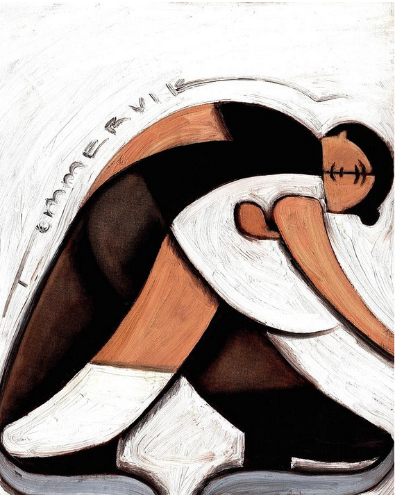 ABSTRACT PAIR SKATERS PAINTING0 (0)