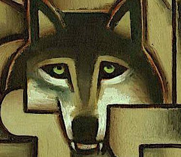 wolf wall art