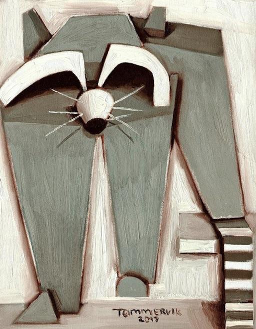 raccoon art