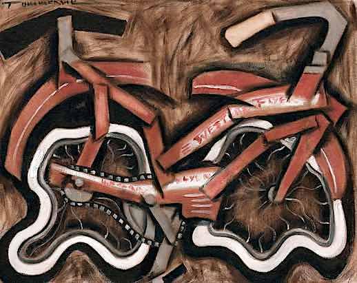 VINTAGE CRUISER BICYCLE PAINTING