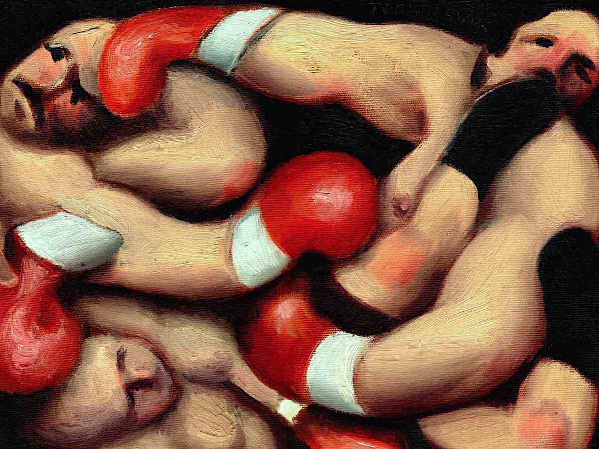boxing painting