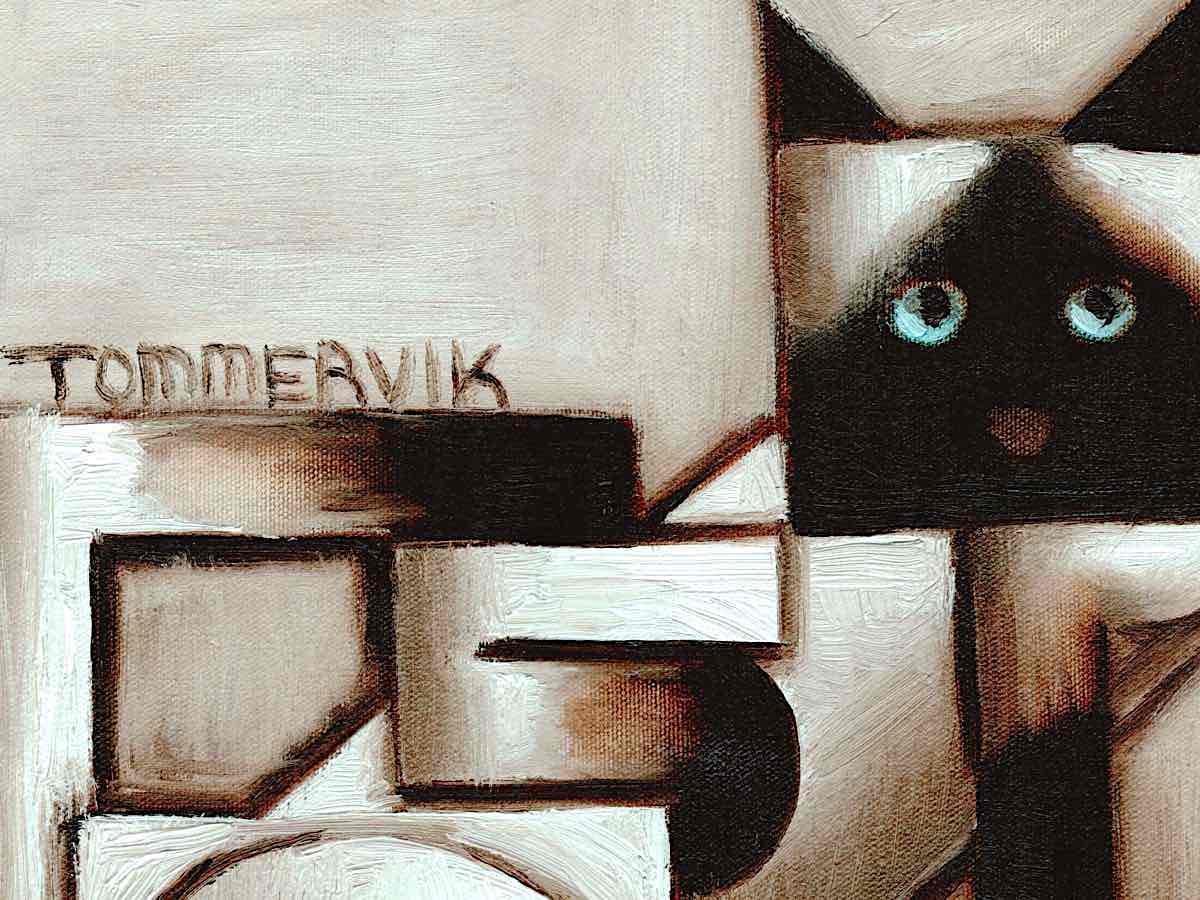 siamese cat wall art
