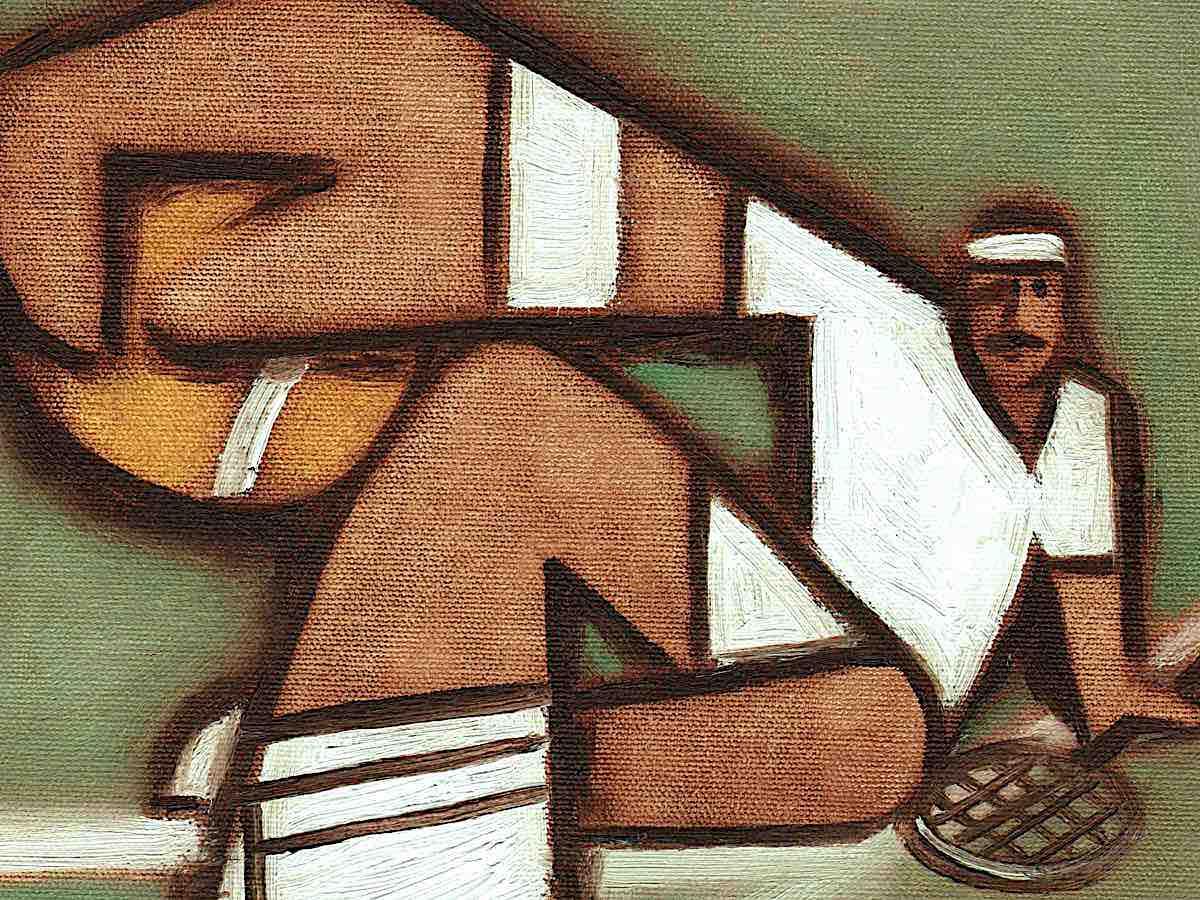 tennis paintings
