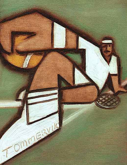 tennis wall art